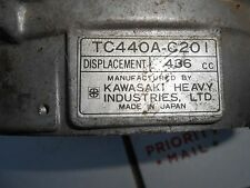 KAWASAKI TC 440A-C201 motor parts:  FLYWHEEL SHROUD w I.D. PLATE