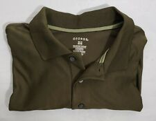 Mens George XL Polo Golf Shirt Moisture Wicking Clothing Short Sleeve Casual