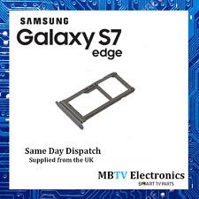 NEW Genuine Samsung Galaxy S7 Edge Dual SIM Card / Micro SD Adaptor SILVER