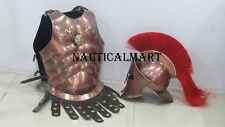 Medieval Copper Muscle Armour W/Spartan Helmet- Halloween Costume