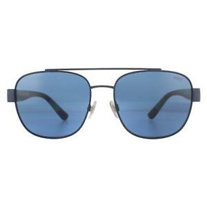 Polo Ralph Lauren Sunglasses PH3119 930380 Matte Navy Blue Blue