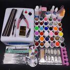 Nail Art Tools Sets 36W White Lamp Dryer /12 Color UV Gel /Zebra Pen/ Brush Kit
