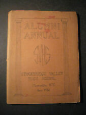 Stockbridge Valley Central High School NY YEARBOOK  1932