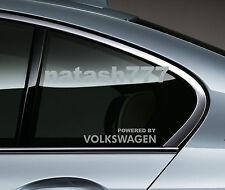 Powered by VOLKSWAGEN Sport Racing Window Decal sticker emblem logo SILVER Pair
