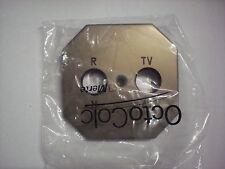 Merten Octocolor Bronze Zentralplatte TV / Radio Neu !!