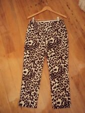 * sportscraft pants  leopard print cotton  stretch