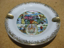 Canada Canadian Map Coat Of Arms Ash Tray Ashtray Made in Japan Used Vintage