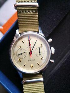 Redstar Seakoss Seagull ST1901 1963 Machanical Pilot Chronograph 38mm watch