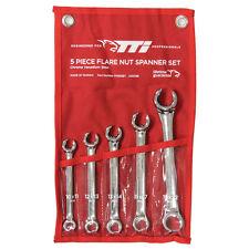 TTI FLARE NUT SPANNER SET FNS5SET 5Pcs,10x11mm,12x13mm,13x14mm,15x17mm & 19x22mm