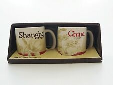 More details for starbucks global icon collector series set of two demitasse china shanghai cups