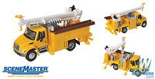 HO Scenemaster 949-11732 International 4300 Utility Truck w/ Drill Yellow