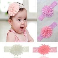 Baby Kids Lovely Lace Flower Stretch Headwear Hair Decor Headdress Headband New
