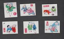 Série de 6  étiquettes Allumettes Chine   RR1  Enfant