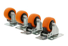 Abn Swivel Plate Caster Wheels 2� Inches Set of 4 Locking Casters for Furniture