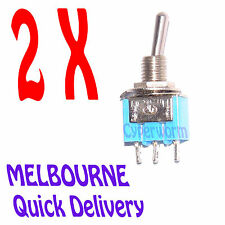 Mini Switches 3-Pin SPDT ON-OFF-ON Mini Toggle Switch 6A 125VAC