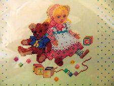 Playtime Friends Doll Teddy Bear Nursery Cross Stitch Kit 1652 Creative Circle