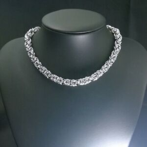 Stainless Steel 316L 8mm width mens womens necklace Necklace418 silver tone
