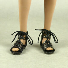 1/6 Scale Phicen, TBLeague, Nouveau Toys - Female Black Gladiator Sandal Shoes