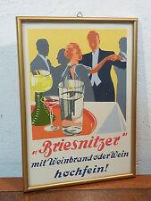 """ORIGINAL REKLAME BILD DRESDEN BRIESNITZ """"BRIESNITZER HOCHFEIN"""" UM 1935 ART DECO"""