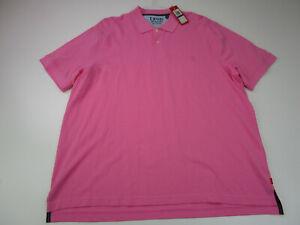 New IZOD Polo Golf Shirt Adult 2XL Pink Golfer Casual Golfer Cotton Casual Mens