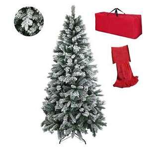 Albero di Natale INNEVATO Berna Bianco Neve artificiale molto Folto Realistico