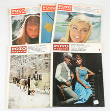 FOTO MAGAZINE 1966 1ST 2ND 4TH 11TH 12TH MONTH ISSUE INCLUDED,GROUP OF 5