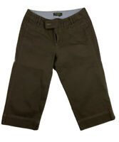 Eddie Bauer Women's Brown Capri Pants  Blakely Fit Size 10 Cotton Spandex Blend