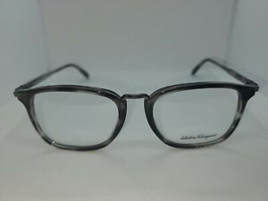 Salvatore Ferragamo SF2822, Color 003 Striped Grey, 52-18-145, Made in Italy
