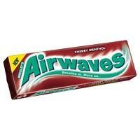 Wrigley's Airwaves Cherry Menthol - 14g - Pack of 10 (14g x 10) (0.49 oz  x  10)