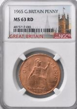More details for 1965 elizabeth ii penny 1d ngc ms63 rd great britain britannia