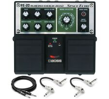New Boss RE-20 Space Echo Guitar Effects Pedal! w/ Hosa Cables!