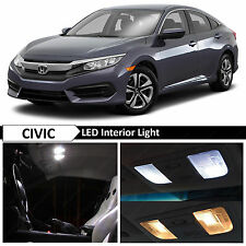10x White Interior LED Lights Package Kit for 2016-2017 Honda Civic + TOOL