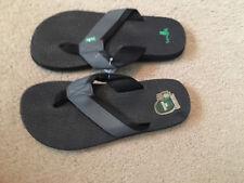 Sanuk Men's/Youth Boys Black Gray Flip Flops 7 - NEW