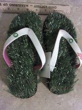 XS (US 4-6) Grass Flip Flops Pink/White Comfortable Unisex Shoes Kids Women Men
