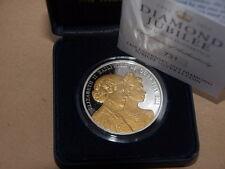 RARE 2012 Guernsey Giubileo di diamante Argento Proof £ 5 cinque POUND CORONA MEDAGLIA