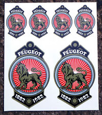 Peugeot Crest 100 ans Vintage cycle decals stickers