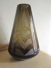 Art Deco Period Acid Etched Glass Vase Nancy France