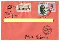 1965 - Dante Alighieri. - lire 500 - Sass 1007 -  Raccomandata per Cosenza 1978