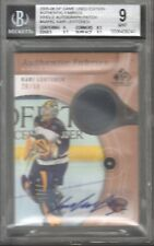 2005-06 SP Game Used Authentic Fabrics Auto Patch Kari Lehtonen 20/50 BGS 9