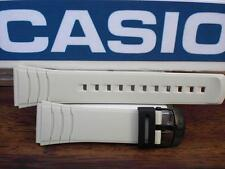 Casio Watch Band DBC-32. Data Bank Off White/Beige  Resin Strap 22mm