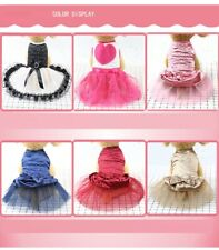 Cute Pet Puppy Small Dog Lace Princess Tutu Dress Skirt Clothes Apparel Costume