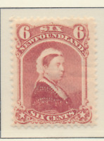 Newfoundland (Canada) Stamp Scott #35, Mint Lightly Hinged