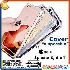 Cover silicone Alluminio retro Specchio custodia per iPhone 5 6 7 PLUS Apple