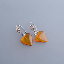 Real Amber Earrings Sterling Silver 925 2,6 x 1,2cm / HSL 215 - 220