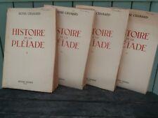 Série Complète 4 Volumes LA PLEIADE henri Chamard 1939/40....henri didier