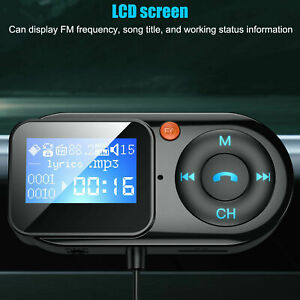 USB Car Bluetooth FM Transmitter Wireless Radio Charger Kit Mp3 Player Handsfree