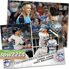 2017 Topps Now #OS66 Aaron Judge/Cody Bellinger Rookie Of The Year Award Winners