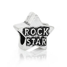 Rock Star Music Band Musician Spacer Bead for Silver European Charm Bracelets