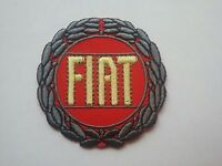 MOTORSPORTS RACING CAR BADGE SEW/IRON ON PATCH:- FIAT RED LAUREL LEAF (a)