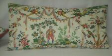 "LUMBAR VINTAGE FRENCH TOILE ACCENT DECORATIVE TOSS THROW PILLOW COVER 10""x20"""